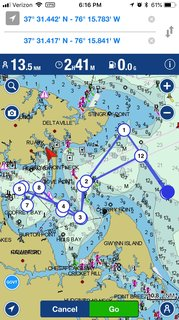 Fall Series 1 Non Spinnaker course